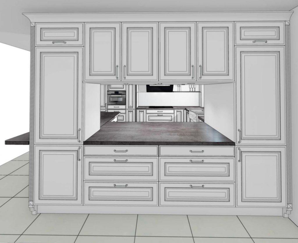 Ansicht Küchen Durchreiche