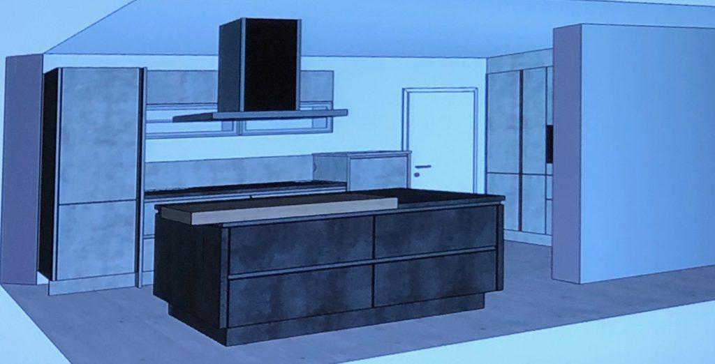 Ansicht Beton Küche