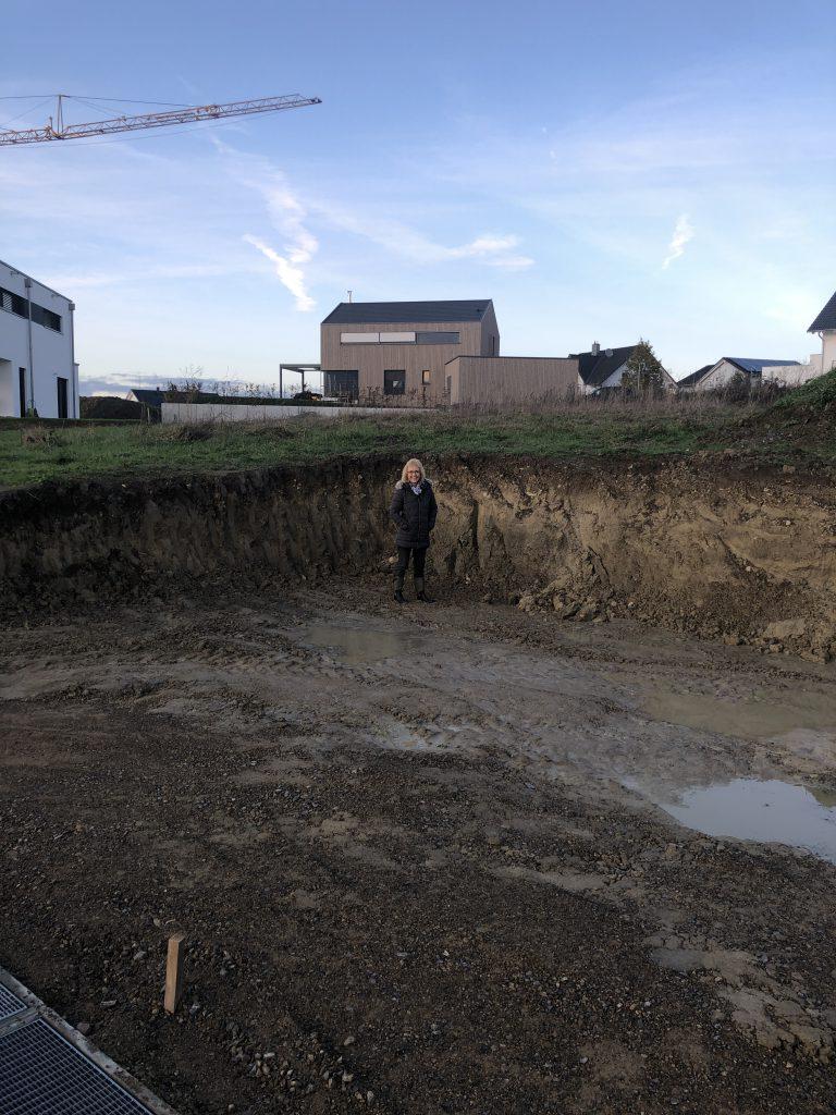 Abgegrabene Erde für Garagen