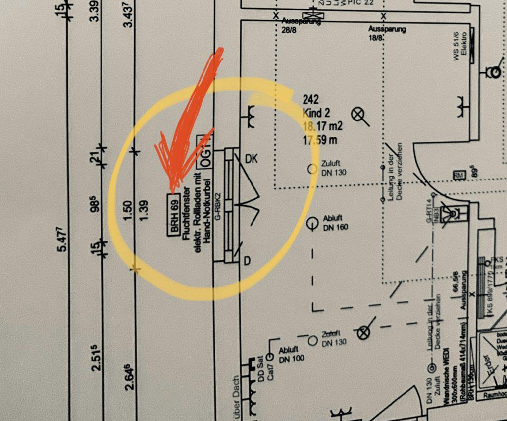 Bauplan mit BRH 69