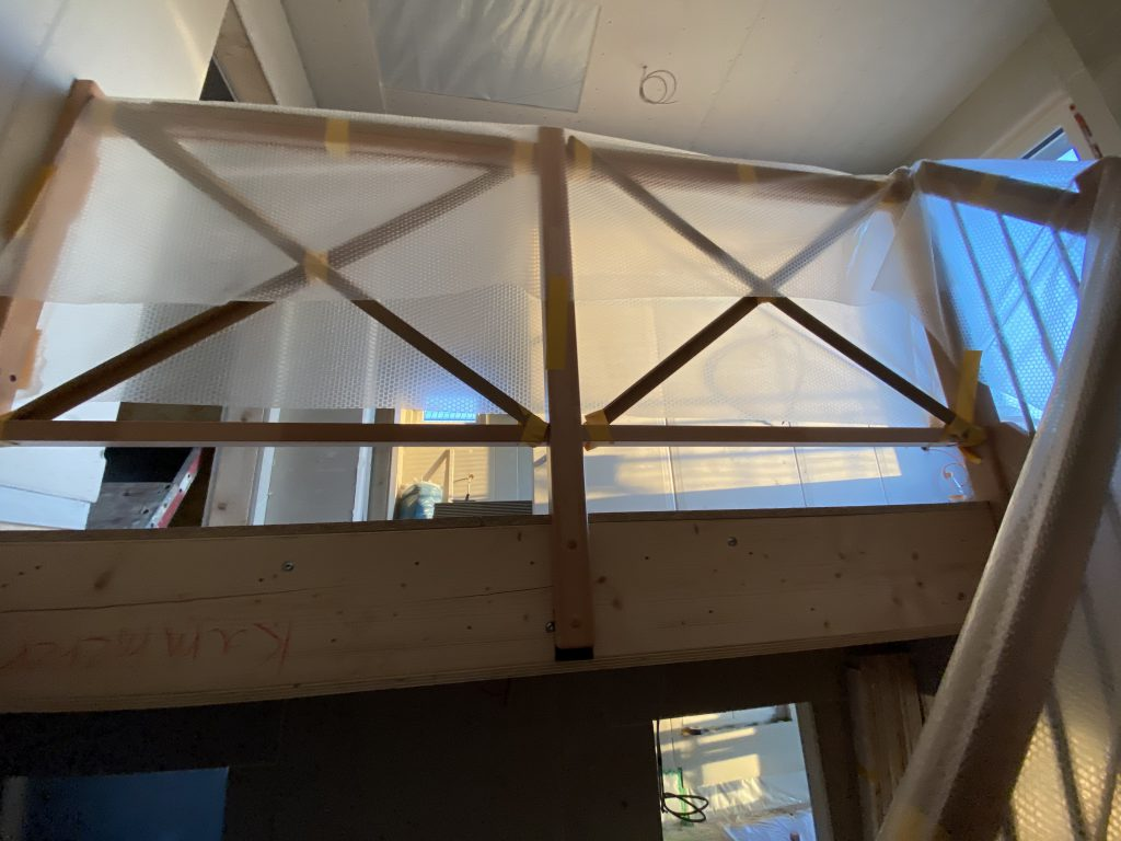 Galerie Geländer mit Glas