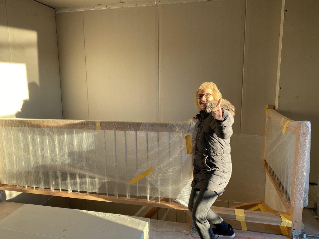 Galerie Geländer Treppe mit Streben