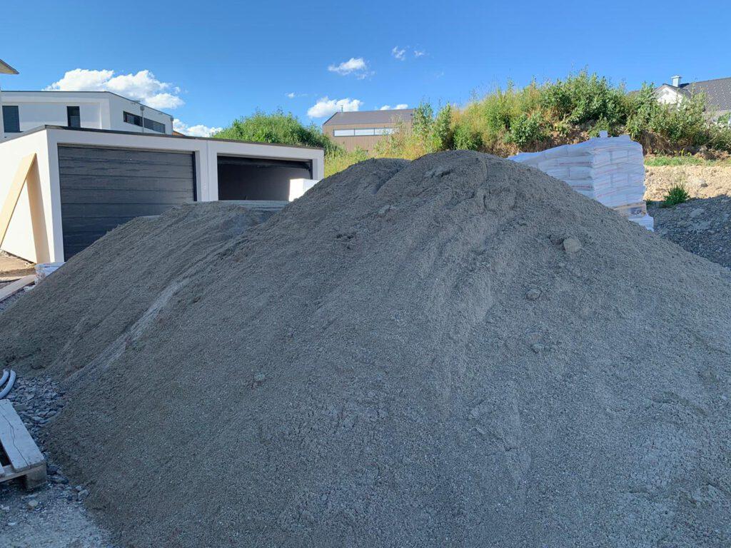 Sand für den Estrich